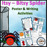 Itsy Bitsy Spider Posters & Writing Activities  - Spiders Write the Room