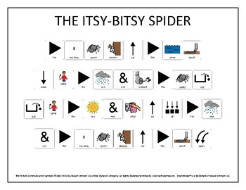 The Itsy-Bitsy Spider Song Sheet
