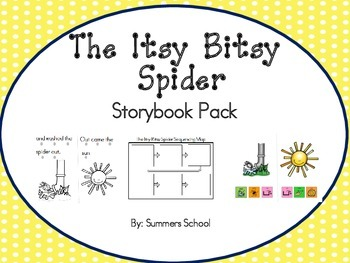 The Itsy Bitsy Spider Storybook and Sequencing Map Pack