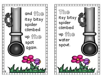 The Itsy Bitsy Spider booklet