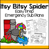Emergency Sub Plans for Itsy Bitsy Spider