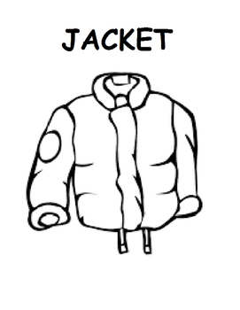 The Jacket I Wear In The Snow Adapted Workbook (Autism, Winter, Speech)