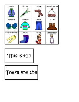 The Jacket I Wear... Picture Sequencing Cards, Autism, Speech and Language