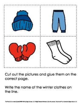 The Jacket I Wear in the Snow - Sequencing / Writing Book