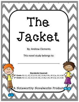 The Jacket by Andrew Clements - Novel Study / Key