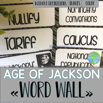 Andrew Jackson Word Wall without definitions