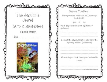 The Jaguar's Jewel (A to Z Mysteries) A Book Study