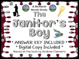 The Janitor's Boy (Andrew Clements) Novel Study / Reading Comprehension