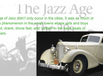 The Jazz Age Background for The Great Gatsby