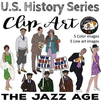The Jazz Age The 1920s Clip Art Set 1