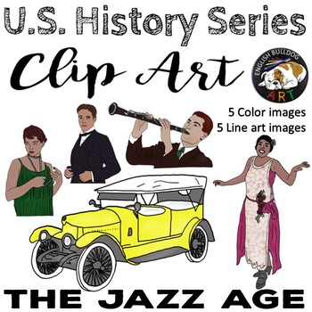 The Jazz Age The 1920s Clip Art Set 2