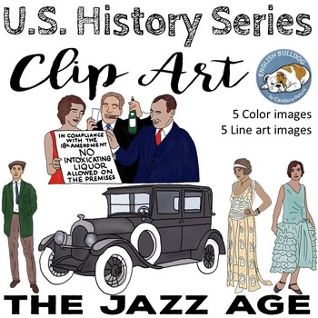 The Jazz Age The 1920s Clip Art Set 3