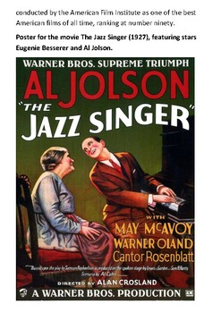 The Jazz Singer Handout