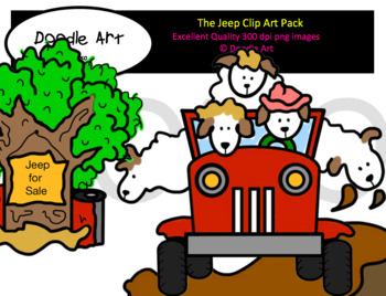The Jeep Clip Art Pack