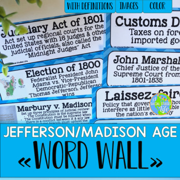 Thomas Jefferson and War of 1812 Word Wall