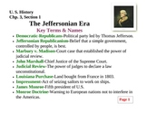 The Jeffersonian Era-Chp.3,Sec.1