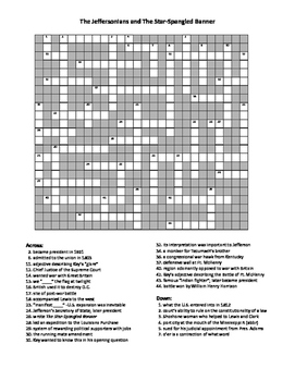 The Jeffersonians Crossword Puzzle