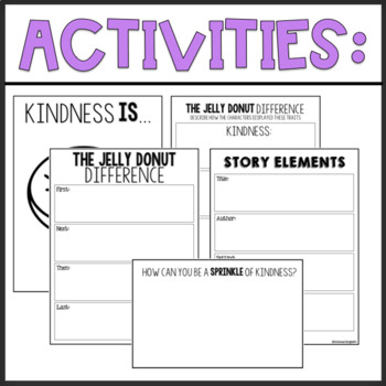 The Jelly Donut Difference | Character Education Lesson & Book Extension