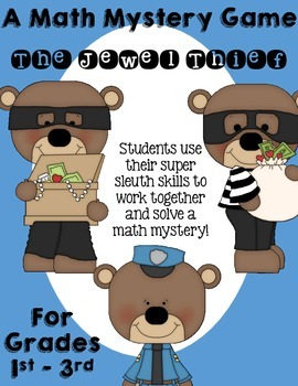 The Jewel Thief - A Math Mystery Game - Adding, Subtracting, and More!