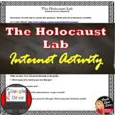 World War 2 | The Jewish Holocaust Internet Lab Activity |Print and Google Drive