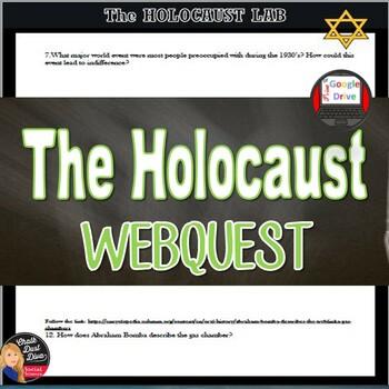 World War II: The Jewish Holocaust Internet Lab Activity