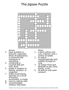 The Jigsaw Puzzle by Judith Bauer Stamper Complete Guided Reading Worksheet