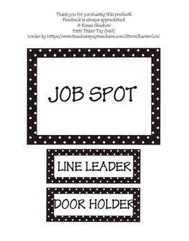 Polka Dot Job Chart Labels
