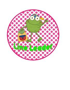 The Job Spot (froggy theme): classroom jobs