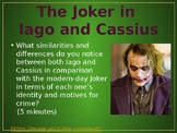 The Joker in Iago from Othello - Cross-Textual Connections with Julius Caesar
