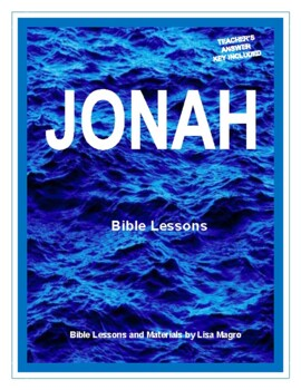 Jonah Bible Study  (Chs. 1-4)  - No Prep with Teacher's Answer Key