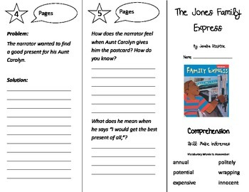 The Jones Family Express Trifold - Treasures 3rd Grade Unit 3 Week 3 (2011)