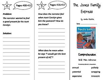 The Jones Family Express Trifold - Treasures 3rd Grade Unit 3 Week 5 (2011)