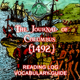 The Journal of Columbus - Journal, Reading Log, and Vocabulary Guide