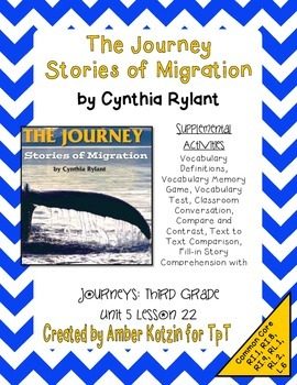 The Journey: Stories of Migration Mini Pack 3rd Grade Journeys Unit 5, Lesson 22