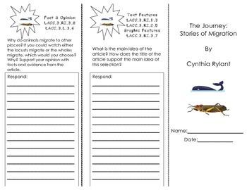 The Journey Stories of Migration/ Journeys HMH 3rd Grade