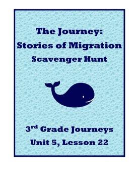 The Journey: Stories of Migration Scavenger Hunt (Journeys 3rd Grade)
