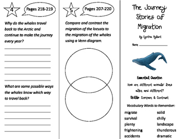 The Journey: Stories of Migration Trifold - Journeys 3rd Gr Unit 5 Week 2 (2011)