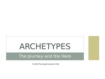 The Journey, The Hero and The Villain PowerPoint