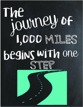 The Journey of 1,000 Miles ... Classroom Decoration