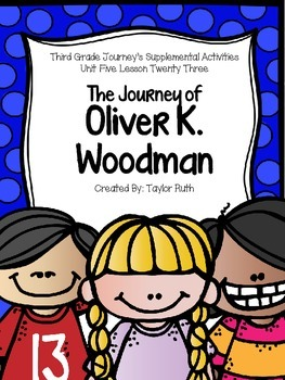 The Journey of Oliver K. Woodman Journey's Activities Third Grade Lesson 23