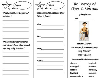 The Journey of Oliver K. Woodman Trifold - Journeys 3rd Gr U 5 Wk 3 (2014, 2017)