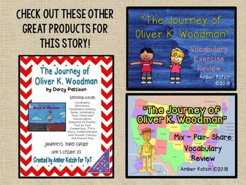 The Journey of Oliver K Woodman: Virtual Evidence Bag Journeys 3rd Gr Lesson 23