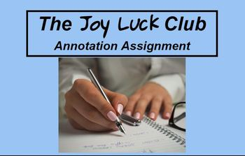 The Joy Luck Club Annotation Assignment