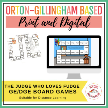 The Judge Who Loves Fudge! (a ge/dge board game) Orton-Gillingham Inspired
