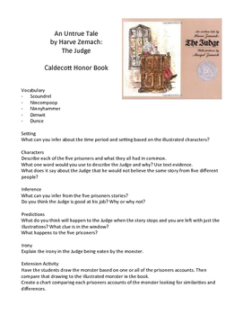 The Judge by Harve Zemach - Teaching Literary Skills with Picture Books