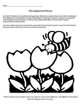 The Judgmental Flower: stereotypes, prejudice, relationships, understanding