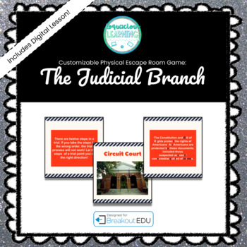 The Judicial Branch Breakout Game (See Description for Content)