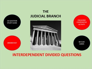 The Judicial Branch: Interdependent Divided Questions Activity