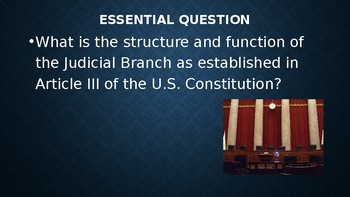The Judicial Branch Slide Show