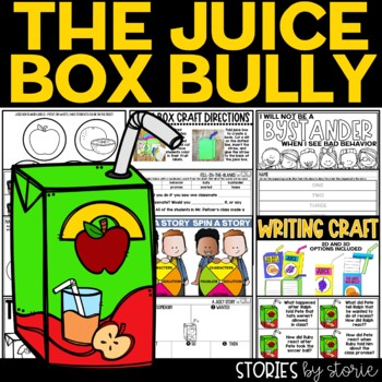 The Juice Box Bully (Book Questions, Vocabulary, & Juice Box Craft)